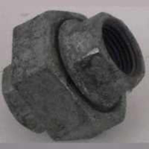 "Worldwide Sourcing 34B-1G 1"" Galvanized Malleable Ground Joint 150# Union"
