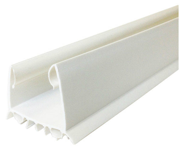 "M-D Building 43336 White Slide On Door Seal, 36"" L, Vinyl"