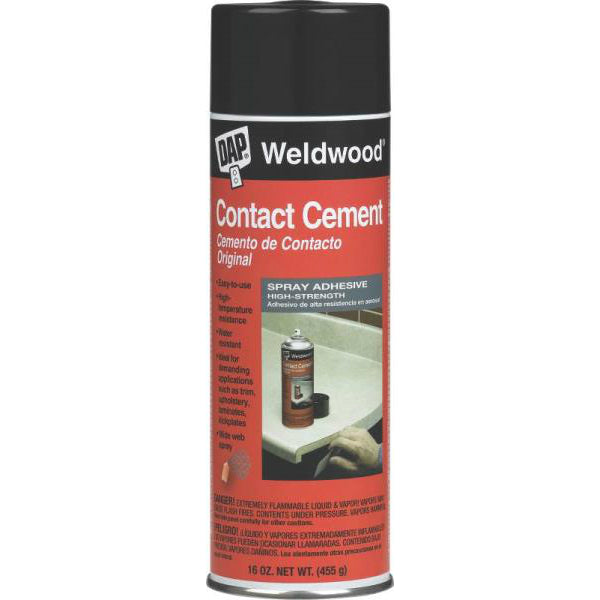 Dap 00122 Weldwood Contact Cement Spray Adhesive, 16 Oz