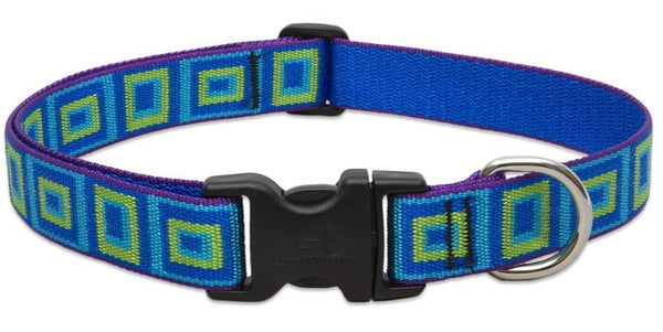 "Lupine 73252 Adjustable Dog Collar, 12""-20"", Sea Glass Design"