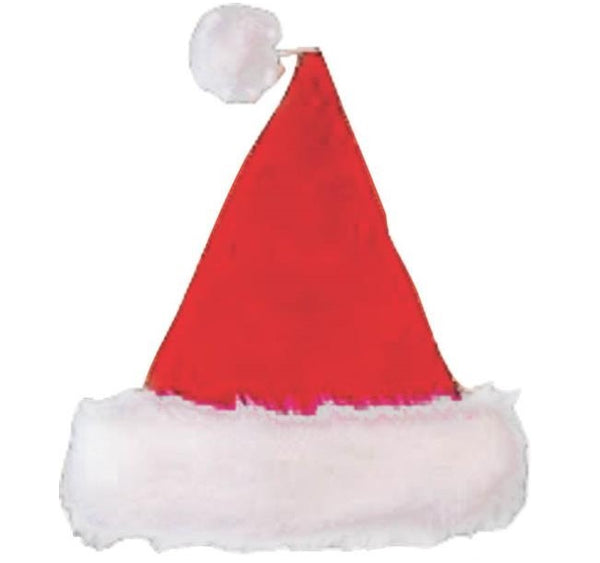 Santas Forest 28905 Santa Hat, Value Plush, 17""