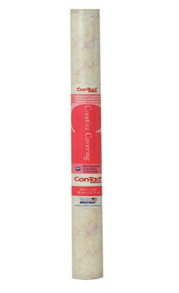 "Kittrich 09F-C9823-12 Beige Marble Contact Paper, 18"" x 9'"
