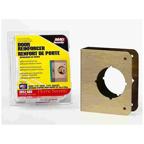 Prime-Line U 9555 Door Reinforcer, Solid Brass, 2-1/8""