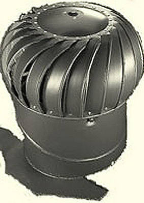 Air Vent 52102 Internally Braced Wind Turbine with Base, Black, 12""