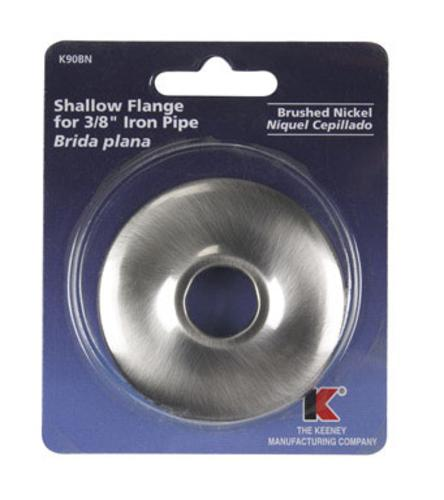 Plumb Pak K90BN Shallow Flange Brushed Nickel, 3/8""