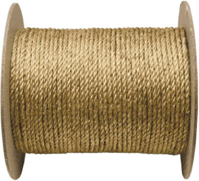 "Wellington 28771 Twisted Manila Rope 3/8"" x 600', Natural Fiber"