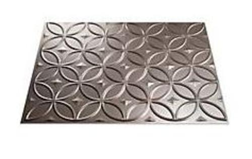 "Fasade F71-29 Thermoplastic Ring Backsplash, 18"" x 24"", Brushed Nickel"