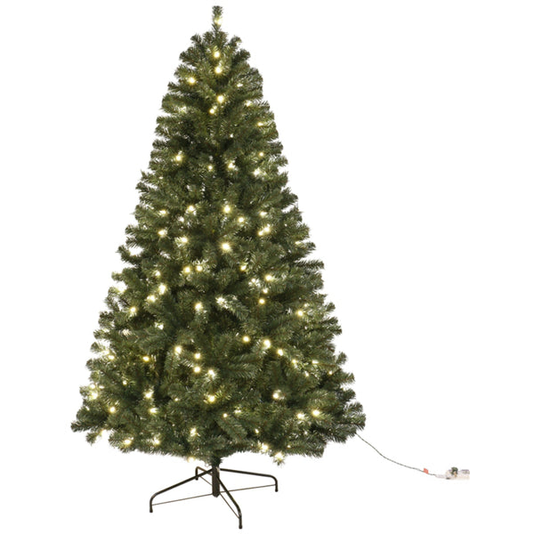 Santas Forest 61960 Fir Noble Sheared Prelit Christmas Tree, 6 Ft