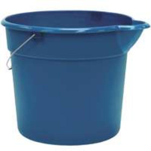 "United Plastics PA0013 ""Organize Your Home"" Plastic Pail - 18 Qt Blue"