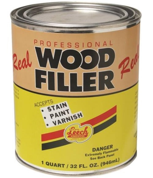 Leech LWF-70-6 Superior Grade Real Wood Filler, 1 Quart