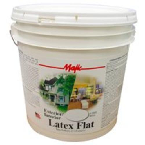 Majic 8-0802-6 Exterior/Interior Latex Flat Paint, 2 Gallon, White