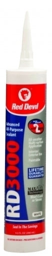 Red Devil 0986 RD3000 Advanced All Purpose Sealant, White, 9 Oz