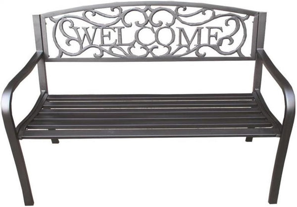 Seasonal Trends XG-204N Essentials Welcome Park Bench, Metal
