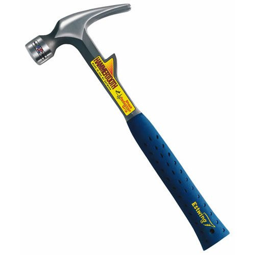 Estwing E6-22TM Milled Face Rip Claw Hammer 22 Oz, Steel