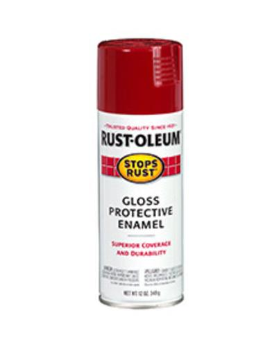 Stops Rust 7763-830 Gloss Protective Enamel Spray Paint 12 Oz, Carnival Red