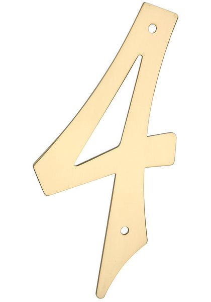 National Hardware N211-623 Solid Brass House Number, #4, 4""