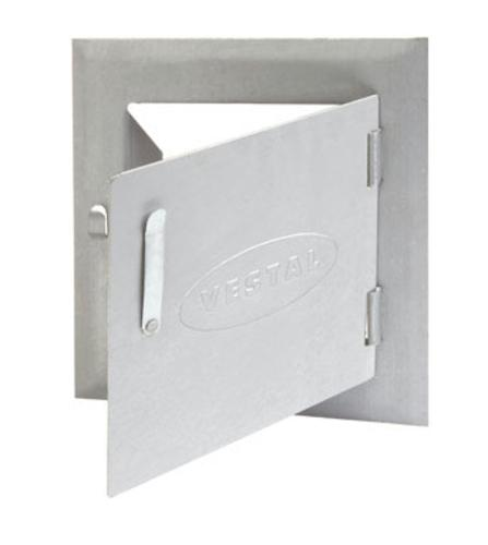 "Vestal ST-88 Galvanized Steel Cleanout Door, 8"" x 8"""