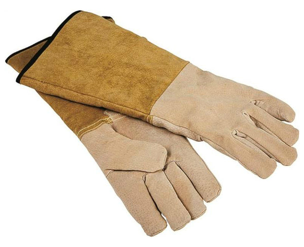 Homebasix CPA03110MM3L Pigskin Fireplace Gloves, 16""