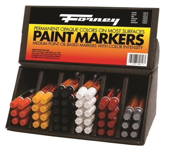 Forney 70816 Paint Marker Display, 48-Piece