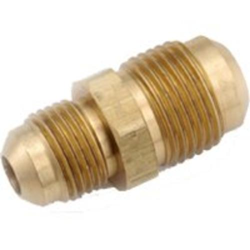 "Anderson Metal 754056-0604 Brass Flare Fitting Reducing Union, 3/8"" x 1/4"""