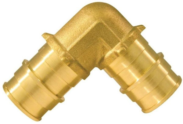 Apollo EPXE3410PK Pex Pipe Elbow, Brass, 3/4""
