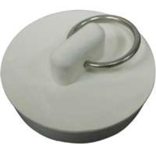 "Worldwide Sourcing PMB-104 Rubber Sink Stopper, 1-1/2"", White"