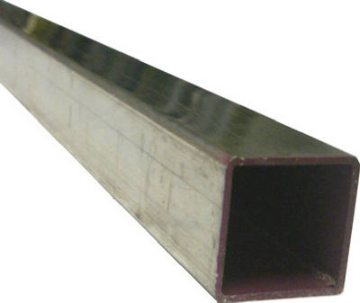 "SteelWorks 11392 Square Aluminum Tube, 1"" x 96"", Mill Finish"