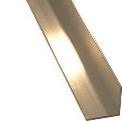 "SteelWorks 11439 Anodized Aluminum Angle, 1/16"" x 1/2"", 96"" Long"