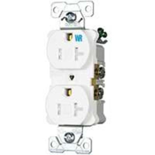 Cooper Wiring TWRBR20W-BXSP Commercial Duplex Receptacles, 20 Amp, White