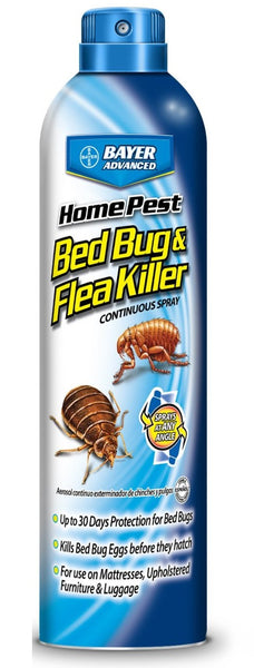 Bayer Advanced 701320A Home Pest Bedbug And Flea Killer Continuous Spray, 15 Oz