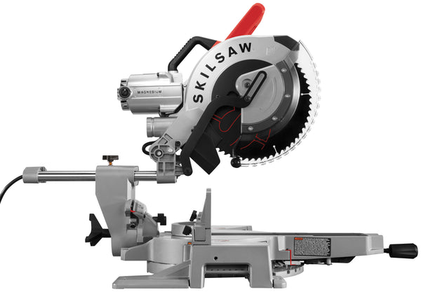 Skilsaw SPT88-01 Worm Drive Dual Bevel Sliding Miter Saw, 12 In