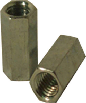 SteelWorks 11842 Steel Coupling Nut, 10-24, Zinc Plated
