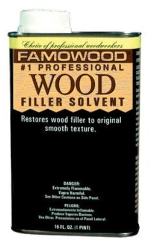 Famowood 730021 Wood Filler Solvent, 1 Pint