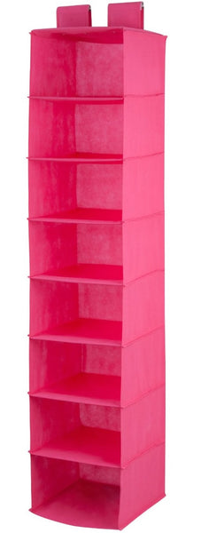 Honey-Can-Do SFT-03055 Shelf Hanging Vertical Closet Organizer, Pink