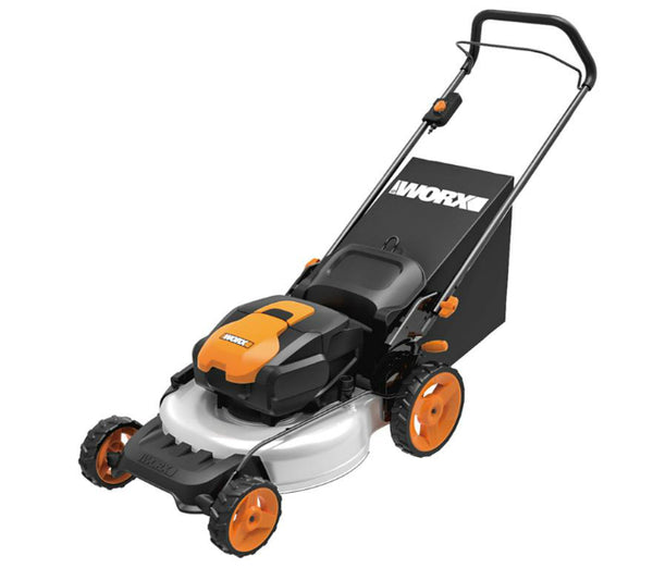 Worx WG772 Lithium-Ion 3-in-1 Cordless Mower with IntelliCut, 56 Volts, 19""