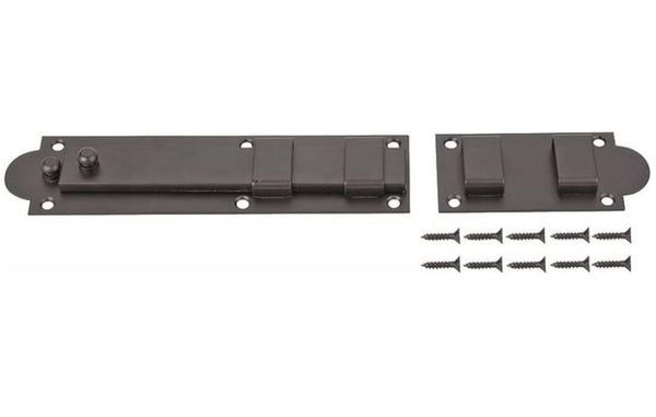 Prosource SH-S10-PS Shutter Slide Bolt, Black Powder Coated