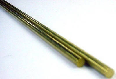 "K&S 8158 Solid Brass Rod, .114""-.081""-.072"" x 12"" (3-Pack)"
