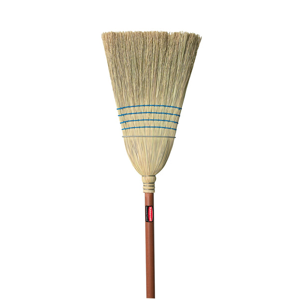 Rubbermaid® FG638300BLUE Janitor Warehouse Stained/Lacquered Handle Corn Broom