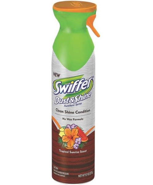 Swiffer 3700083619 Dust & Shine Furniture Polish, Tropical, 9.7 Oz