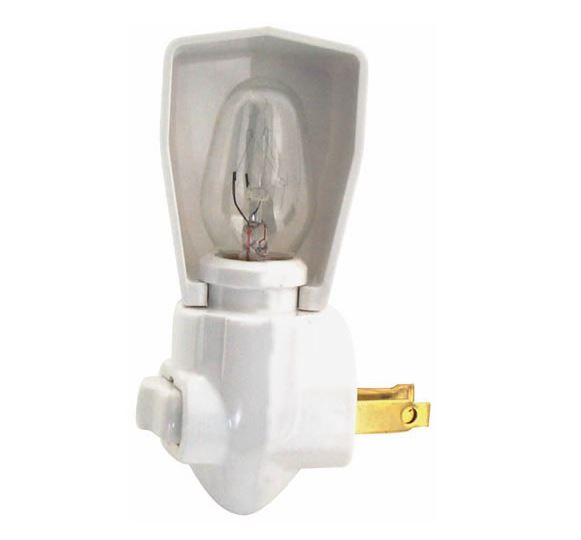 Cooper Wiring BP850W Night Light With Switch, 125 Volt