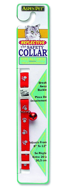 "Aspen Pet 0322402 Adjustable Reflective Pet Collar, 3/8"" Red"