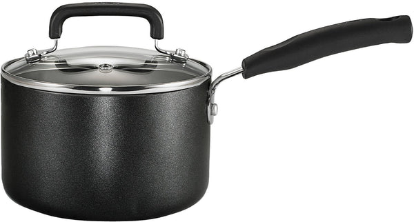 T-fal Signature C1192474 Non-stick Sauce Pan, Black, 3 Quart