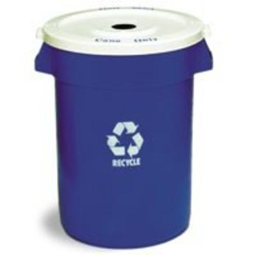 Continental 3200-1 Commercial Huskee Recycle Container, Blue, 32 Gallon