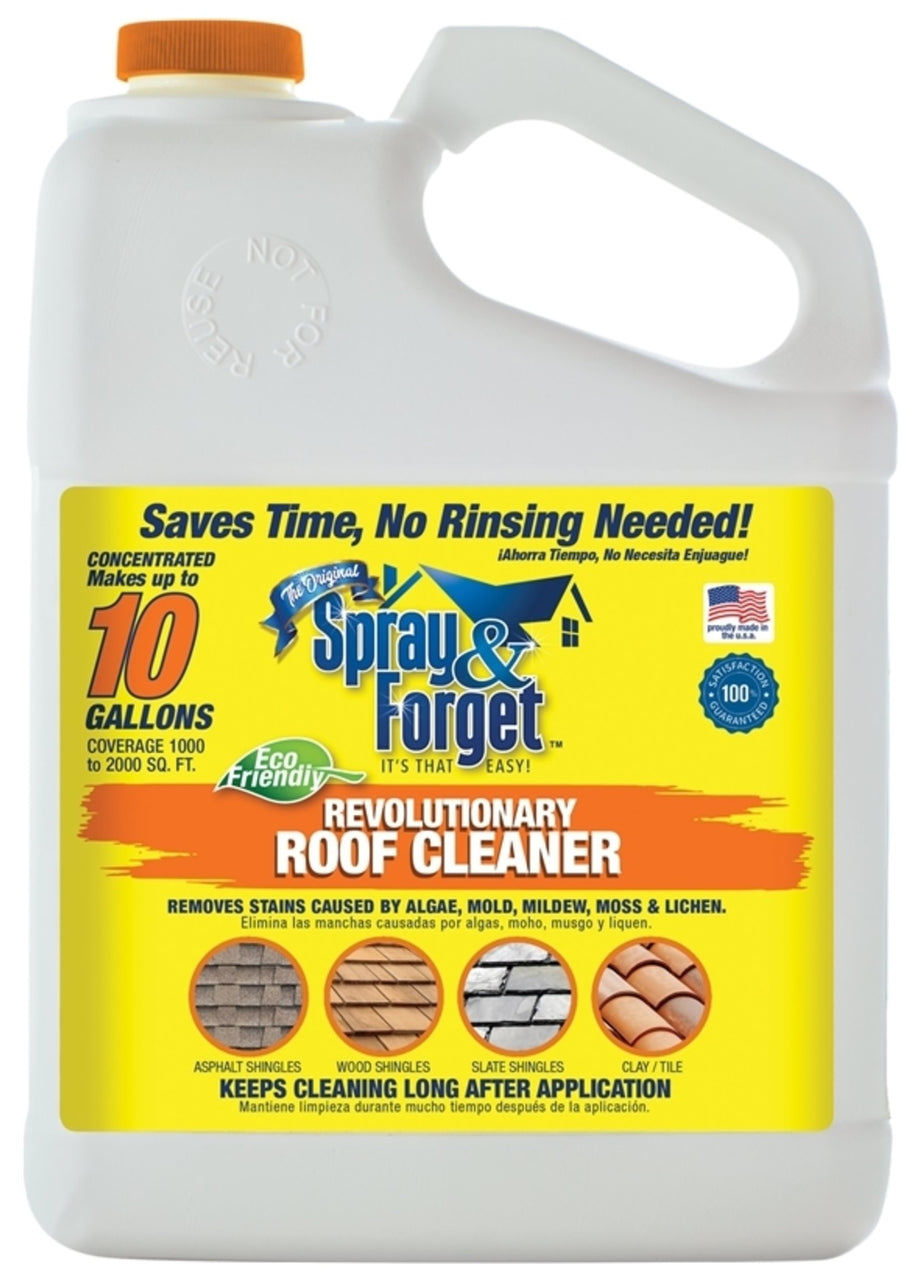 Spray & Forget SFRCG01 Concentrated Roof & Exterior Surface Cleaner, 1 Gallon