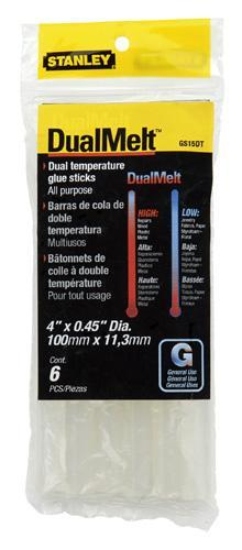 Stanley GS15DT Dualmelt Temp Repair Seal Glue Sticks, 4""