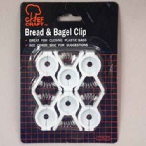 Chef Craft 20840 Bread And Bagle Clip, 6 Piece