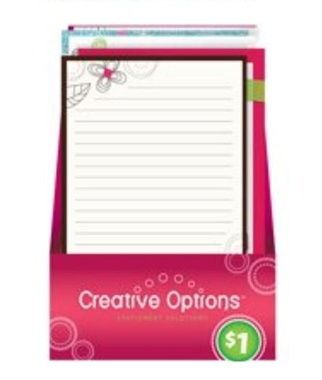 Creative Options 9866 Writing Pad, 60 Sheet