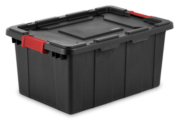 Sterilite 14649006 Industrial Tote, 15 Gallon, Black