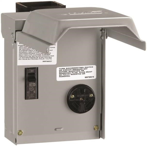 GE U013CP Temporary RV Power Outlet with Breaker, 30 Amp