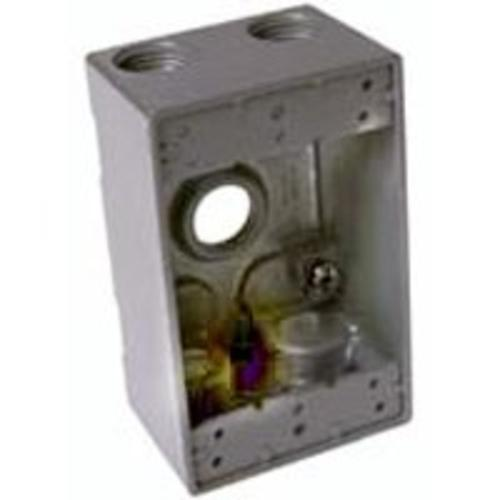 Bell 5331-0 1 Gang Outlet Weatherproof Box, Aluminum, Gray, 3/4""